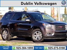 2015 GMC Acadia SLT-1 44k miles Call for Price 44848 miles 925-384-1095 Transmission: Automatic  #GMC #Acadia #used #cars #DublinVolkswagen #Dublin #CA #tapcars