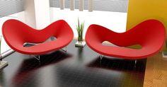 Red Living Room Interior Design: contemporary living room interior sofas design with red color scheme and awesome shaped Sofa Design, Interior Design, Room Interior, Interior Decorating, Decorating Ideas, Decor Ideas, Contemporary Chairs, Modern Chairs, Modern Room