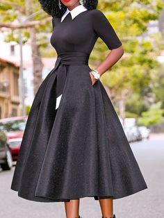 Dress For Women Up To OFF! Shop Sexy Trending Dresses – Hebedress offers the best women's fashion Dresses deals! Half Sleeve Women, Half Sleeves, Tie Dress, Boho Dress, Glamour Moda, Floryday Vestidos, Spring Dresses, Winter Dresses, African Fashion