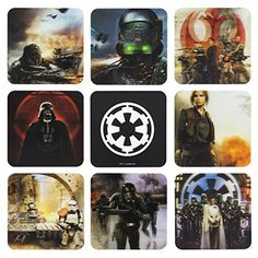 Star Wars Rogue One Set Of 8 3D Coasters ** To view further for this item, visit the image link.
