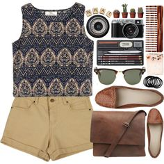 what ✮ by flourel on Polyvore featuring Ray-Ban, Mason Pearson, Ella Doran and Hasbro