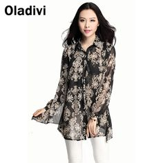 Find More Blouses & Shirts Information about XXXL Plus Size Women Clothing 2015 Fashion Printing Chiffon Blouse Casual Female Top Shirt Long Sleeve Turn Down Collar Tops XL,High Quality shirt elastic,China shirt germany Suppliers, Cheap shirt tales from Oladivi Group - Minabell Fashion Store on Aliexpress.com