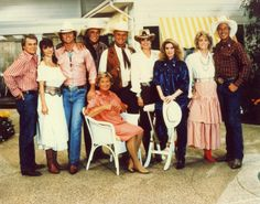 Dallas is a drama that revolves around the Ewings, a wealthy Texas family in the oil and cattle-ranching industries. The series won four Emmy Awards, including a 1980 Outstanding Lead Actress in a Drama Series win for Barbara Bel Geddes. Throughout the series, Larry Hagman stars as greedy, scheming oil baron J. R. Ewing.