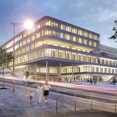 Lausanne University Children's Hospital by gmp in Switzerland. The design by architects von Gerkan, Marg and Partners, with JB Ferrari, for a new children's hospital at the Lausanne University Hospital has won first prize in an international competition. First Prize, Hospital Design, Lausanne, Childrens Hospital, Medical Center, Switzerland, Architects, Ferrari, Competition