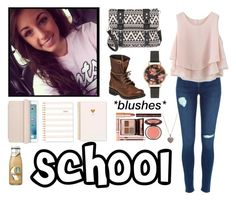 """""""First Day of School"""" by juliet-vaquero ❤ liked on Polyvore featuring Candie's, Steve Madden, Chicwish, Olivia Burton, Sugar Paper, Charlotte Tilbury, Judith Jack and OFFICAI"""