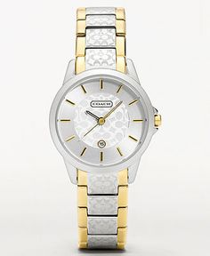 bb5432fcc COACH WOMEN'S CLASSIC SIGNATURE TWO-TONE BRACELET WATCH 15MM 14501430 &  Reviews - Watches - Jewelry & Watches - Macy's