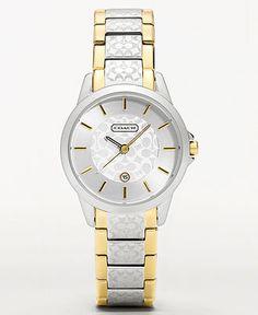 COACH CLASSIC SIGNATURE BRACELET WATCH - Coach Watches - Handbags & Accessories - Macy's