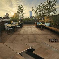 Großformatige Terrassenplatten Keramikfliesen für den Außenbereich mit passenden Stelzlagern bei Keramik Loft Hannover verfügbar!