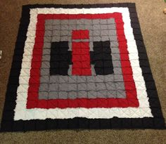 Love this Case IH rag quilt! Custom designed by C&C Custom Rag Quilts #IH #tractor #Case #cccustomquilts