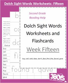 printable sight word flash cards, handwriting, and matching