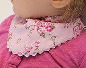 Floral, lilac, purple cloth, children scarf, shawl, scarf, Slobber cloth, bib, kids cloth, scarf, purple, pink