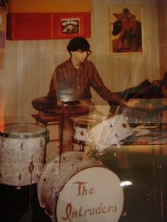 Early Joey Ramone playing for his first band The Intruders in 1967