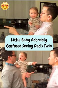 #Little #Baby #Adorably #Confused #Seeing #Dad #Twin Winter Fashion Outfits, Summer Outfits, Acrylic Nail Designs, Hair Highlights, Balayage Hair, Clay Crafts, Little Babies, Valentine Gifts, Curly Hair Styles