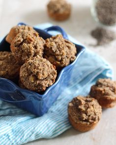These paleo banana chia bites are naturally sweet and perfectly moist mini-muffins. They're the ultimate paleo snack.
