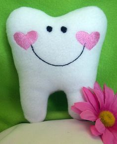 Items similar to Personalized Tooth Fairy Pillow, Embroidered and Stuffed Fleece on Etsy Tooth Pillow, Tooth Fairy Pillow, Sewing Projects For Kids, Crafts For Kids, Sewing Hacks, Sewing Crafts, Felt Patterns Free, Fundraising Crafts, Fairy Birthday Party
