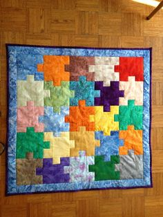Puzzle-Themed Baby Quilt – Coast to Coast Crafts