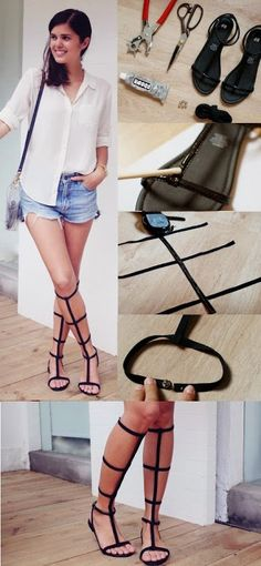 A simple tutorial on how to make your own gladiator sandals.