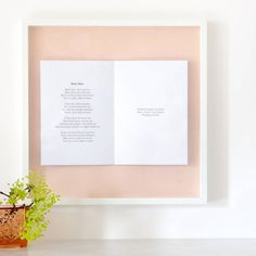 Framed Wedding Vows Or Poem Picture