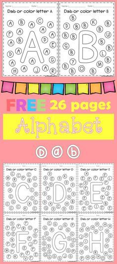 FREE Freebies Alphabet Dap A-Z 26 pages. For PreK and Kindergarten.