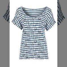 Ai que tudo!!   Blusa listrada com estampa de gatinhos azul manga curta com decote redondo  COMPRE AQUI!  http://imaginariodamulher.com.br/look/?go=2gyLZ9A  #comprinhas #modafeminina#modafashion  #tendencia #modaonline #moda #instamoda #lookfashion #blogdemoda #imaginariodamulher