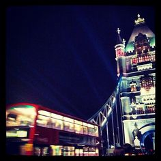 London was lit up and lively last night.