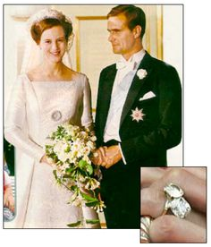 Royal Wedding Wednesday: Queen Margrethe II to Prince Henrik de Laborde de Monpezat – Duchess-at-Large Famous Wedding Dresses, Royal Wedding Gowns, Royal Weddings, Wedding Bride, Crown Princess Mary, The Princess Bride, Princess Margaret, Royal Engagement Rings, Kings & Queens