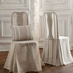Make gorgeous old chairs a feature rather than hiding them with sheer fabric chair covers.