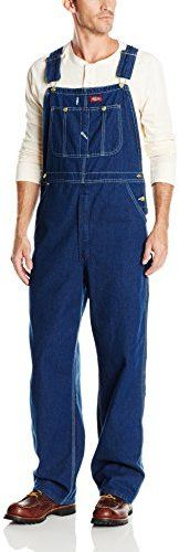 $60, Blue Denim Overalls: Dickies Indigo Bib Overall. Sold by Amazon.com. Click for more info: https://lookastic.com/men/shop_items/105745/redirect