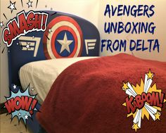Avengers Twin Size Bed from @deltachildren
