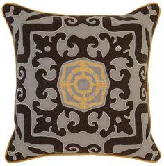 Malena Mango Multi 22x22 Pillow design by Villa Home