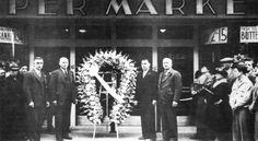 Four brothers at opening of Genetti Market - Hazleton, PA 1939