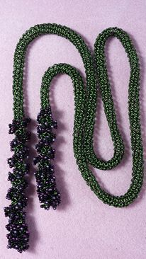 French Quarter Lariat. Design by Jill Wiseman from Beautiful Beaded Ropes. Made by Jennifer Ehrichs