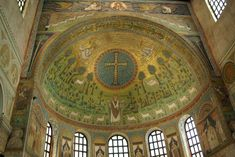 San Apollinare in Classe, Apollinare-Salus Mundi- Christ inside Cross-Sheep flock