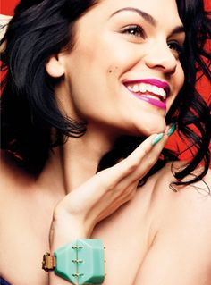 The boldest smile  For a cool hot pink and turquoise combo like this, try L'Oréal Paris Infallible Le Rouge in Fearless Fuchsia ($10, at drugstores) and L'Oréal Paris Colour Riche Nail in Now You Sea Me ($6, at drugstores).  Bracelet, By Malene Birger. Info: glamour mobile