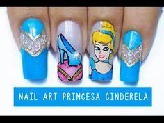 Unhas Decoradas Princesa Cinderela - princess Cinderella - Aline Makelyne - YouTube