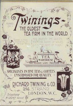 Twinings Tiny Tea Shop in London - The Curious Rambler - If, like me, you enjoy history and a good cup of tea, there's a place in London you shouldn't miss: Twinings tea shop at 216 Strand has it all – wrapped up in one tidy little rectangle of a r… Vintage Tee, Pub Vintage, Chai, Tee Kunst, Twinings Tea, Retro, Tea Quotes, Coffee Quotes, Cuppa Tea