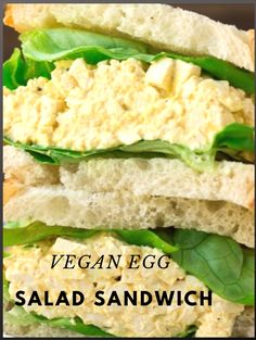 Thanks to a few tricks and tips, this is the best Vegan Egg Salad ever! It makes the perfect sandwich on sourdough bread with butter lettuce, and is full of plant protein Best Vegan Recipes, Veggie Recipes, Snack Recipes, Snacks, Vegan Hummus Wrap, Make Ahead Salads, Vegan Egg, Egg Salad Sandwiches, Vegan Lunches