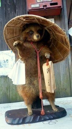 images of tanuki   here are a pilgrim tanuki found at fushimi jinjya and a golfer tanuki ...