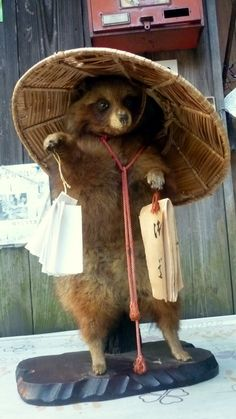 images of tanuki | here are a pilgrim tanuki found at fushimi jinjya and a golfer tanuki ...