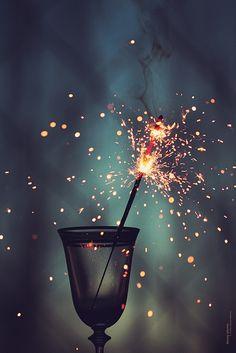 #drink #fire #firework #glass #smoke