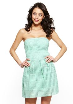 WOW+COUTURE+Strapless+Pleat+Detail+Dress