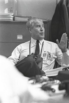 Dr. Von Braun Relaxes After Successful Launch of Apollo 11 (NASA, Marshall, Archive, 7/16/1969)