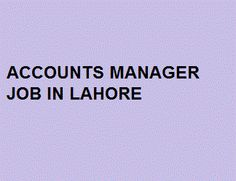 General Manager Senior Manager Operations  Senior Accounts
