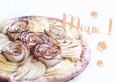 Ma tarte aux pommes en fleurs - Mymy & Cie