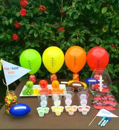 A colorful football party