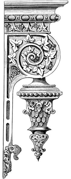 Victorian Ornamental Designs CD-ROM and Book- How good would this be as a clock bracket? Vintage Photographs, Vintage Images, Baroque Frame, Baroque Art, Ornament Drawing, Image Digital, Carving Designs, Victorian Architecture, Ornaments Design