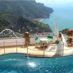 the Bride with a view.... what A view... Hotel Bonadies 4 stars hotel in Ravello - Amalfi Coast -Italy