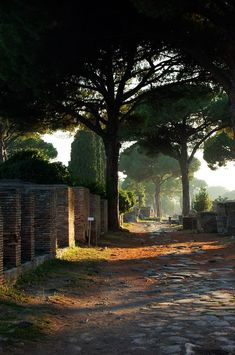 visitheworld:  Old roman ways Ostia Antica / Italy (by Olga).