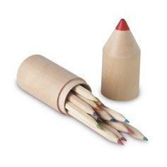 Ceruzakészlet fa tartóban, 12 db színes ceruzával  Kiváló promóciós ajándék igény szerint lógóval vagy felirattal ellátva. Fa, Lipstick, Beauty, Design, Lipsticks, Beauty Illustration