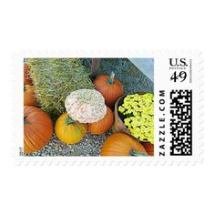 Halloween Autumn Pumpkin Postage Stamps - Halloween happyhalloween festival party holiday